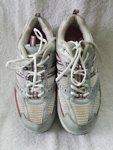 Skechers Shape-Ups Shoes Woman's Size 8 SN 11814 White with Silver/Gray/Pink