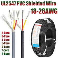 Ul2547 Pvc Shielded Wire Cable 18awg 28awg Tinned Copper 234567 Core
