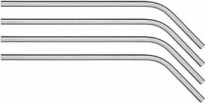 5 x Curved Metal Drinking Straws - Stainless Steel Metal Drinks Reusable Bar Eco