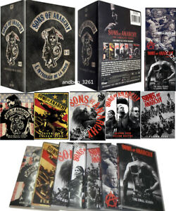Sons of Anarchy: The Complete Series Season 1-7  (DVD, 2015, 30-Disc) US Seller