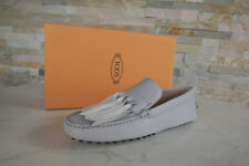 Tods Tod ´ S 39 Mocassins Mocassins Loafers Chaussures Basses Gris Neuf
