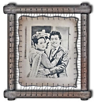 by Artists on Real Leather RARE Pyrography Handmade Technique Etched Tin Anniversary Gift For Him Your Photo Hand Engraved