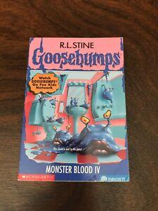 GOOSEBUMPS #62 MONSTER BLOOD IV 1st printing 1997