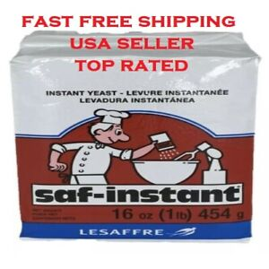 SAF-INSTANT Yeast, 1 lb pouch Baking, Bread making💥FAST FREE SHIPPING💥