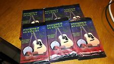 6  PACKS OF SERIES 1 COUNTRY CLASSICS TRADING CARDS NEVER OPENED