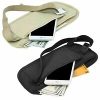 Security Money Waist Travel Pouch Hidden Passport ID Holder Compact Belt Bags