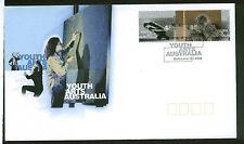 1998 YOUTH ARTS AUSTRALIA PAIR  FDC  SCOTT#1680a PAIR