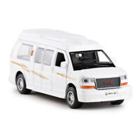 1:32 GMC Savana Passenger Van Car Model Alloy Diecast Toy Vehicle White Gift Kid