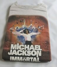 Mens MICHAEL JACKSON IMMORTAL CIRQUE DU SOLEIL MANCHESTER 2013 TShirt Large Grey