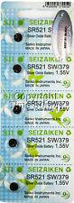 5 pc 379 Seiko Seizaiken Watch Batteries SR521SW FREE SHIP 0% MERCURY