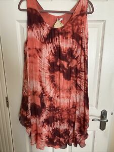 Pink/Lilac Summer Dress - Free Size  - New With Tag!