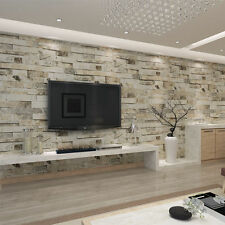 3D Brick Stone Effect Wall Paper Vinyl Cafe Bar RoomTV Background Decor Rolls