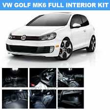 INTERIOR LED CAR LIGHT BULBS KIT - XENON WHITE For VW GOLF VI MK6 - Canbus