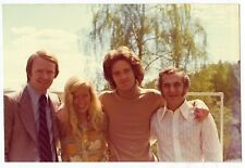 Vintage 70s PHOTO Young Blond Woman w/ Guys Man Group Shot