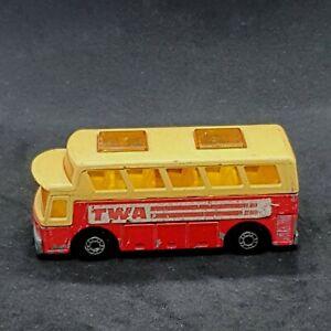 Matchbox Superfast MB65 TWA Airport Coach Vintage Die-Cast Vehicle 1980s