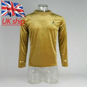 Star Trek TOS Kirk Captain Pike Top Shirt The Original Series Cosplay Uniform