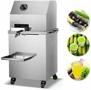 110V Electric Sugar Cane Ginger Press Juicer with Three Rolls