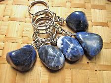 264-Porte clés galet de sodalite-Reiki-Wicca-Lithothérapie