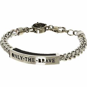 DIESEL men's bracelet ONLY THE BRAVE new