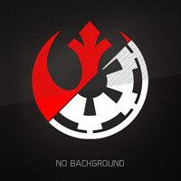 STAR WARS Rebel Alliance Galactic Empire 2-COLOR Vinyl Decal Sticker