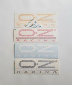 Sticker OZ Racing Original Measure 7 11/16x2 13/16in Black Red Yellow White