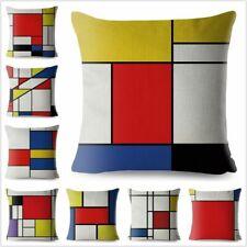 Piet Mondrian Print Cushion Covers Geometric Art Throw Pillow Case Sofa Decor 45