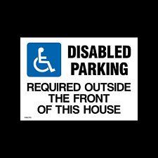 Se requiere de estacionamiento desactivado fuera-signo de plástico A4 y A3, parking (Misc 113)
