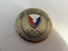 CHALLENGE COIN ARMY MATERIAL CAFE 3 STAR GENERAL FOR OUTSTANDING PERFORMANCE