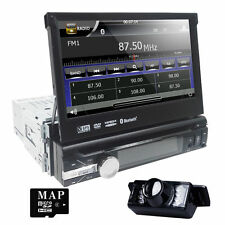"In Dash 1DIN 7"" Car Auto DVD Stereo Player GPS Navi Radio Bluetooth Ipod+Camera"