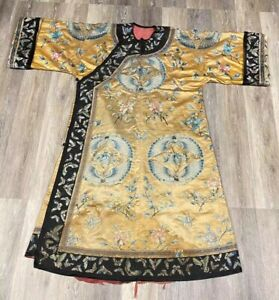 Wonderful Antiques Chinese Robe Butterflies  63 in x 53 in