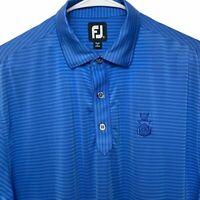 FootJoy Golf Polo Shirt Size M Blue Striped / Capital City Club /  FJ Logo S/S