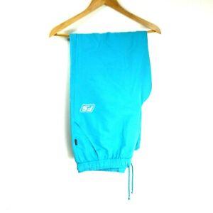 Feroti Sport Women's Shell Track Pants Bottoms Vintage Size L Blue