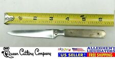 """RARE! Queen Cutlery USA-Made (MID-PRODUCTION) 3.5"""" Paring Knife Kitchen Blade QC"""