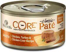 Wellness Core Natural Grain Free Wet Canned Cat Food Chicken & Turkey 12-3 oz