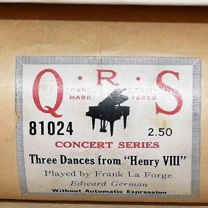 QRS Piano Roll 81024 Three Dances from Henry VIII Played by Frank La Forge