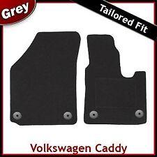 Volkswagen VW Caddy Mk3 2004 onwards Round Clips Tailored Carpet Car Mats GREY