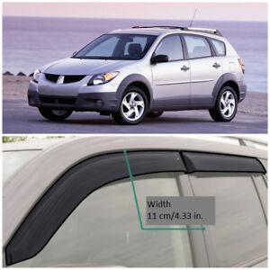 PE20101 Window Visors Guard Vent Wide Deflectors For Pontiac Vibe I 2001-2008