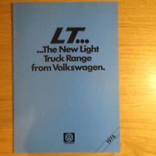 VOLKSWAGEN VW LT28 LT31 LT35 LT28D LT31D LT35D Light Truck Van Brochure 04/1976