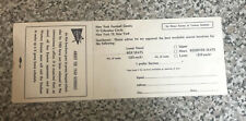 1960 GIANTS at YANKEE STADIUM Schedule Ticket Order Form Brochure postcard rare