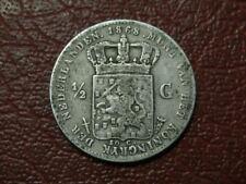 NETHERLANDS SILVER 1868 1/2 GUILDEN  (2530)
