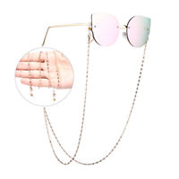Simple Eye Glasses Sunglasses Spectacles Chain Holder Metal Necklace Reading LY