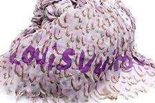 Authentic LOUIS VUITTON Stephen Sprouse  Leopard Pink Cashmere Silk Stole Scarf