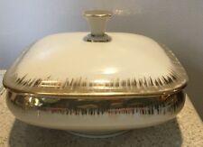 Vintage square candy dish Bavaria Elfenbein Porzellan gold trim Beautiful