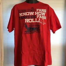 Majestic Red Sox Fans Yankees Bandwagon T SHIRT New With Tags Size L