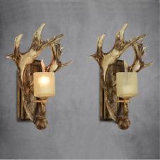 Retro Resin Antlers Aisle Balcony Wall Light Bedroom Hotel Bar Wall Sconce Lamp