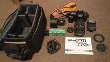 NIKON F70 Film Camera + AF Objectif NIKKOR 35-135 mm 1:3. 5-4.5 + accessoires