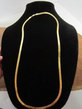 "24"" HERRINGBONE CHAIN/NECKLACE 14K GOLD ITALY APPROX 15 GRAMS GORGEOUS!"