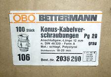 Obo Bettermann Konus-kabelverschraubungen pg29 gris 12mm longitud 100 trozo