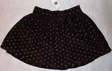 NWT Gap Kids Ciao Bella Brown Pink Hearts Corduroy Skirt 8 Yrs.