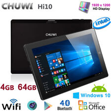 PC TABLET 10.1 POLLICI WINDOWS 10 2x CAM WIFI HDMI 64BIT PAD QUAD CORE 4GB/64GB